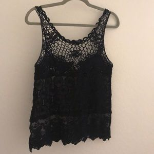 Black Tank with Detail